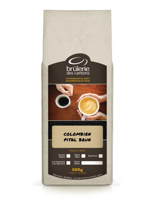 Café Colombien Pital Brun Brûlerie Des Cantons / café espresso ou café filtre