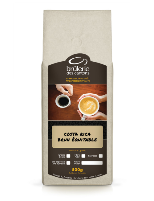 Café Costa Rica Brun Équitable Brûlerie Des Cantons / café espresso ou café filtre