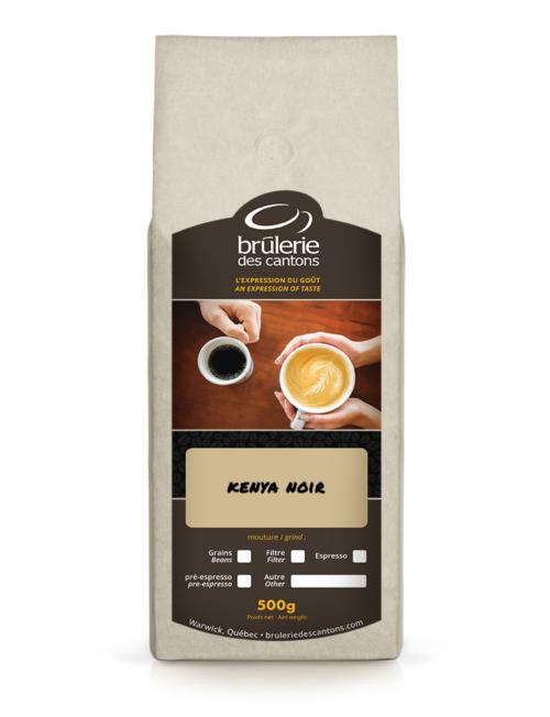 Café Kenya Noir Brûlerie Des Cantons / café espresso ou café filtre