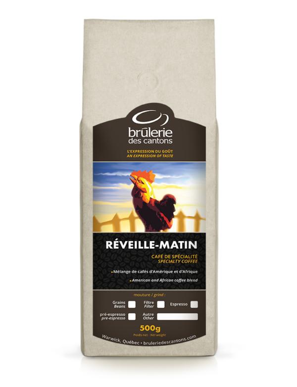 Mélange de café Reveil Matin Brûlerie Des Cantons / café espresso ou café filtre