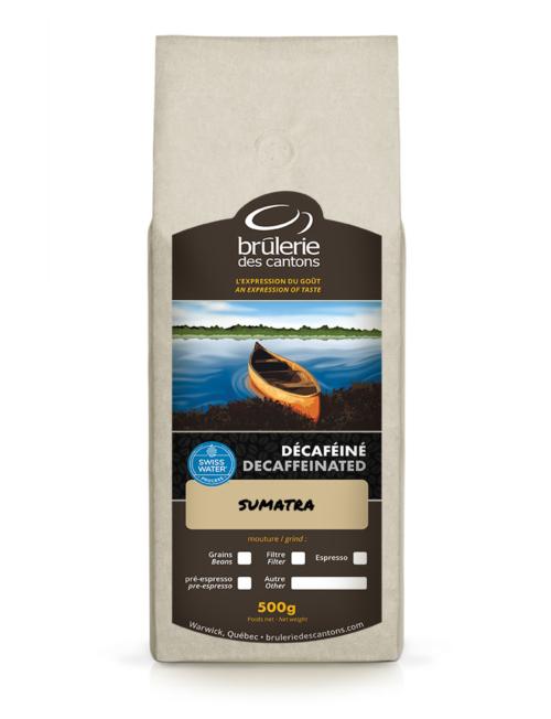Café Sumatra décaféiné Brûlerie Des Cantons / café espresso ou café filtre