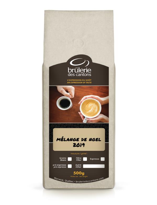 Brûlerie Des Cantons : mélange de café pour Noël / café filtre ou café espresso