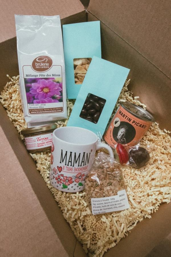 ensemble cadeau fête des mères : Brûlerie Des Cantons / café filtre ou espresso